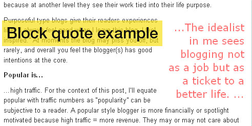 Magazine Quotes Classy The Everyday Blogger Style Tip How To Add Magazinelike Block