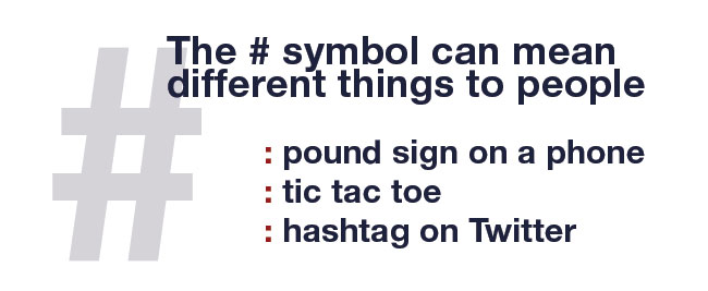 Everyday Tweet In Simple Speak What Does The Hashtag Symbol Mean