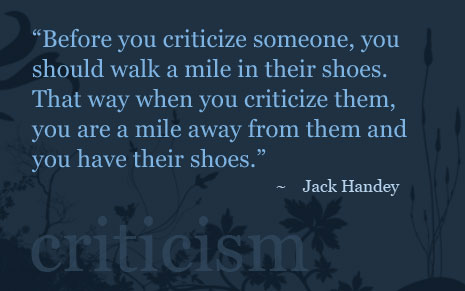 Quote on criticism