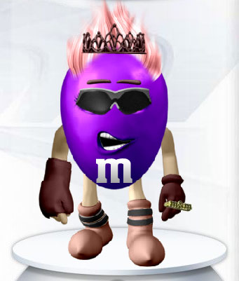 Purple M and M